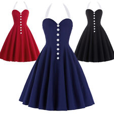 Dress Evening Nylon-cotton Pinup Retro Housewife Vintage Sweetheart Party Swing