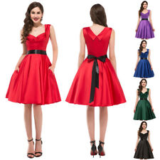 Women Rock Dress Evening Prom Size Pinup Cocktail Housewife Vintage Party Swing