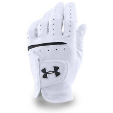 Under Armour Uomo 2019 Ua Strikeskin Tour pelle Guanto Sinistro da Golf Bianco