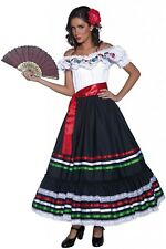 Ladies Deluxe Spanish Traditional Dancer National Dress  Fancy Dress Costume