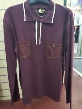Gabicci Mens Polo Shirt Long Sleeve V41GM22 MERLOT