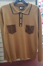 Gabicci Mens Polo Shirt Long Sleeve V41GM22 TOFFEE