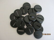 30mm Round Slotta Plastic Bases Lipped Warhammer 40k Wargames Roleplaying figure