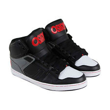 Osiris Nyc 83 Clk Mens Black Leather Sneakers Lace Up Skate Shoes
