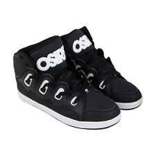 Osiris D3H Mens Black Leather Sneakers Lace Up Skate Shoes