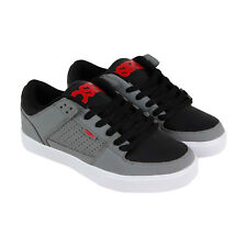 Osiris Protocol Mens Gray Leather Sneakers Lace Up Skate Shoes