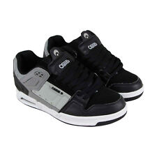 Osiris Peril Mens Black Gray Leather Sneakers Lace Up Skate Shoes