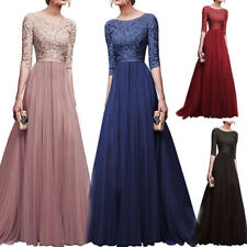 Sexy Dress Pretty Long Bridesmaid Party Formal Prom Gown Wedding Evening Maxi