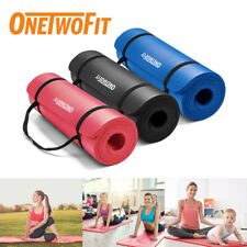 OneTwoFit 10mm Yoga Mat Fitness Exercise Pilates Camping Picnic Gym Pad Durable