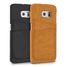 CUSTODIA RIGIDA ECOPELLE PER SAMSUNG GALAXY S6 EDGE COVER PROTETTIVA CASE