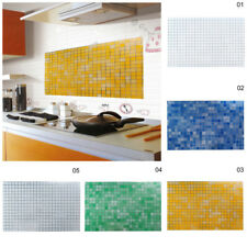 Tiles Wall Stickers Mosaic Self-adhesive Anti Oil Waterproof Bathroom Kitchen