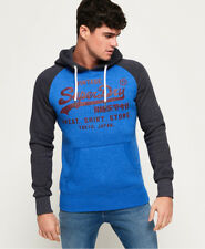 New Mens Superdry Sweat Shirt Store Raglan Hoodie Portlandcobltgrit