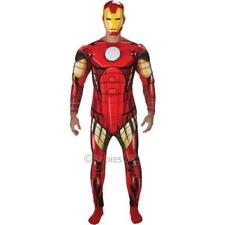 Mens Marvel Deluxe Muscle Chest Ironman Fancy Dress Costume with Mask