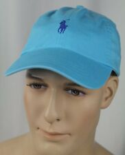 Polo Ralph Lauren Turquoise Blue Baseball Ball Cap Hat Blue Pony NWT
