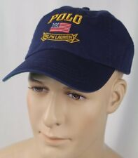 Polo Ralph Lauren Navy Blue Baseball Ball Cap Hat American Flag NWT
