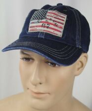 Polo Ralph Lauren Dark Denim Baseball Ball Cap Hat American Flag NWT