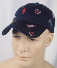 Polo Ralph Lauren Navy Blue Baseball Ball Cap Hat Varsity Collegiate Logos NWT