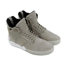 Supra Skytop Iv Mens Gray Suede High Top Lace Up Sneakers Shoes