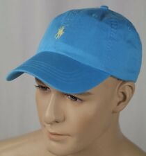 Polo Ralph Lauren Blue Baseball Ball Cap Hat Yellow Pony NWT