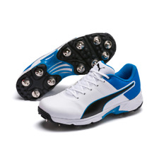 d1be725d83 Mens PUMA Platinum Full Spike White Man Made Cricket Shoes Size ...