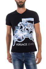 28a0ff0ae2f8 Versace Jeans T Shirt Sweatshirt Cotton Man Blacks B3GOA778 899 NWT