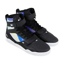 Supra Breaker Mens Black Leather Sneakers Lace Up Basketball Shoes