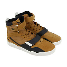 Supra Breaker Mens Tan Suede High Top Lace Up Sneakers Shoes
