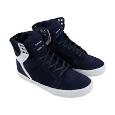 Supra Skytop Mens Blue Suede High Top Lace Up Sneakers Shoes