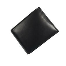Mens Bifold Trifold Leather Black Wallet Card Case ID Holder Pocket Money Clip