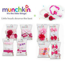 Munchkin Baby Toddler Girl Hair Bow Flowers Headbands & Clips Pink 2-3-4-Pack