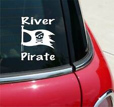 River Pirate Boat Canoe Kayak Funny Graphic Decal Sticker Car Vinyl Wall