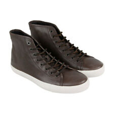 Frye Brett High Mens Brown Leather High Top Lace Up Sneakers Shoes