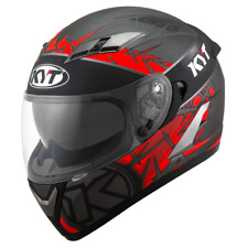 3ecf5e087a8fbe Motorcycle helmet Kyt Falcon 2 Rift red anthracite casque integral helm