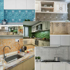 70*45cm Mosaic Aluminum Foil Kitchen Bathroom Anti Oil Wall Paper Wall Sticker
