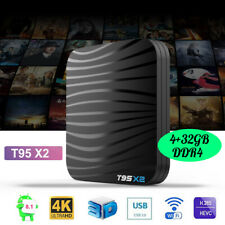 T95X2 Android 8.1 Smart TV BOX Quad Core 4/32GB DDR4 USB3.0 WiFi 4K*2K UHD J9A2