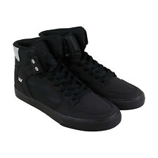 Supra Vaider Mens Black Nubuck High Top Lace Up Sneakers Shoes