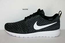 cheap for discount a04d6 bd0db Authentic Nike Roshe Run NM Flyknit Dark Grey Black White 677243 010 Men sz