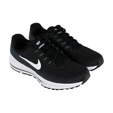 buy online 393d2 bb8df Nike Air Zoom Vomero 13 Womens Black Textile Athletic Lace Up Running Shoes
