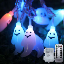 Remote Control Battery Ghost LED Halloween Home Decor Waterproof String Lights