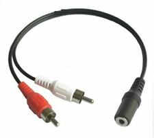 3.5mm Female  to 2 Male RCA Plug  jack stereo Audio Y cable Adapter Cord