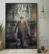 Peaky Blinders On A Gathering Storm Comes Handsome Man Vertical Poster No Frame