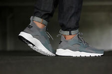 AUTHENTIC NIKE AIR HUARACHE RUN Ultra Cool Grey Black White 819685 011 Men size