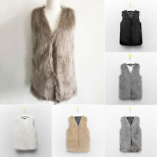 2016 Faux Fur Body Warmer Women Lady Vest Waistcoat Gilet Sleeveless Jacket Coat
