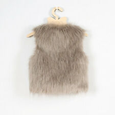 Kids Girls Winter Faux Fur Waist Coat Gilet Jacket Outwear Vest Waistcoat Luxury