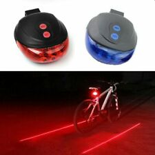 5 LED Bicycle Light 2 Lasers Bike Rear Light Cycling Tail Lights Bicycle Lamp