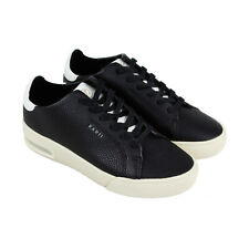 Radii Square Mens Black Synthetic & Leather Low Top Lace Up Sneakers Shoes
