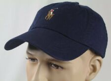 Polo Ralph Lauren Navy Blue Baseball Ball Cap Hat Multi Colored Pony NWT
