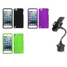 For Apple iPod Touch 5th 6th Gen Snap-On Hard Case Cover Accessory + Cup Mount