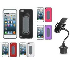 For Apple iPod Touch 5th 6th Gen Toungue Kickstand Impact Case Cover + Cup Mount