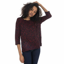 Womens Only Anika 3 Quarter Sleeve Top In Night Sky / Red